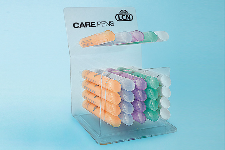 """<p>LCN&rsquo;s Nail Care Pens address different cuticle and nail challenges. The Nail Cuticle Softener Pen softens and moisturizes cuticle with lactic acid; the Calcium Pen strengthens the nail; the Purple Pen contains collagen and lecithin to strengthen cuticles and nails; the Tea Tree Pen keeps the skin healthy; and the Olive Sensation Pen nourishes thin, brittle cuticles and nails. Each features a sloping applicator to push back cuticles.</p> <p><a href=""""http://www.lcnusa.com"""">www.lcnusa.com</a></p>"""
