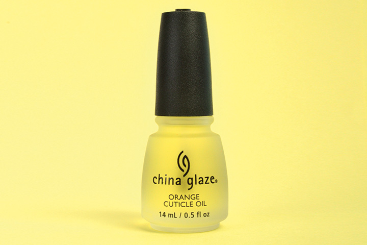 """<p>China Glaze Orange Cuticle Oil moisturizes dry, damaged, dehydrated cuticles, promoting healthy nail growth with a blend of vitamins A, C, and E. Infused with an aromatic blend of five natural moisturizing oils, this nourishing oil penetrates dry, damaged cuticles, increasing flexibility and strength of natural nails and rejuvenating artificial nails.</p> <p><a href=""""http://www.chinaglaze.com"""">www.chinaglaze.com</a></p> <p>&nbsp;</p>"""