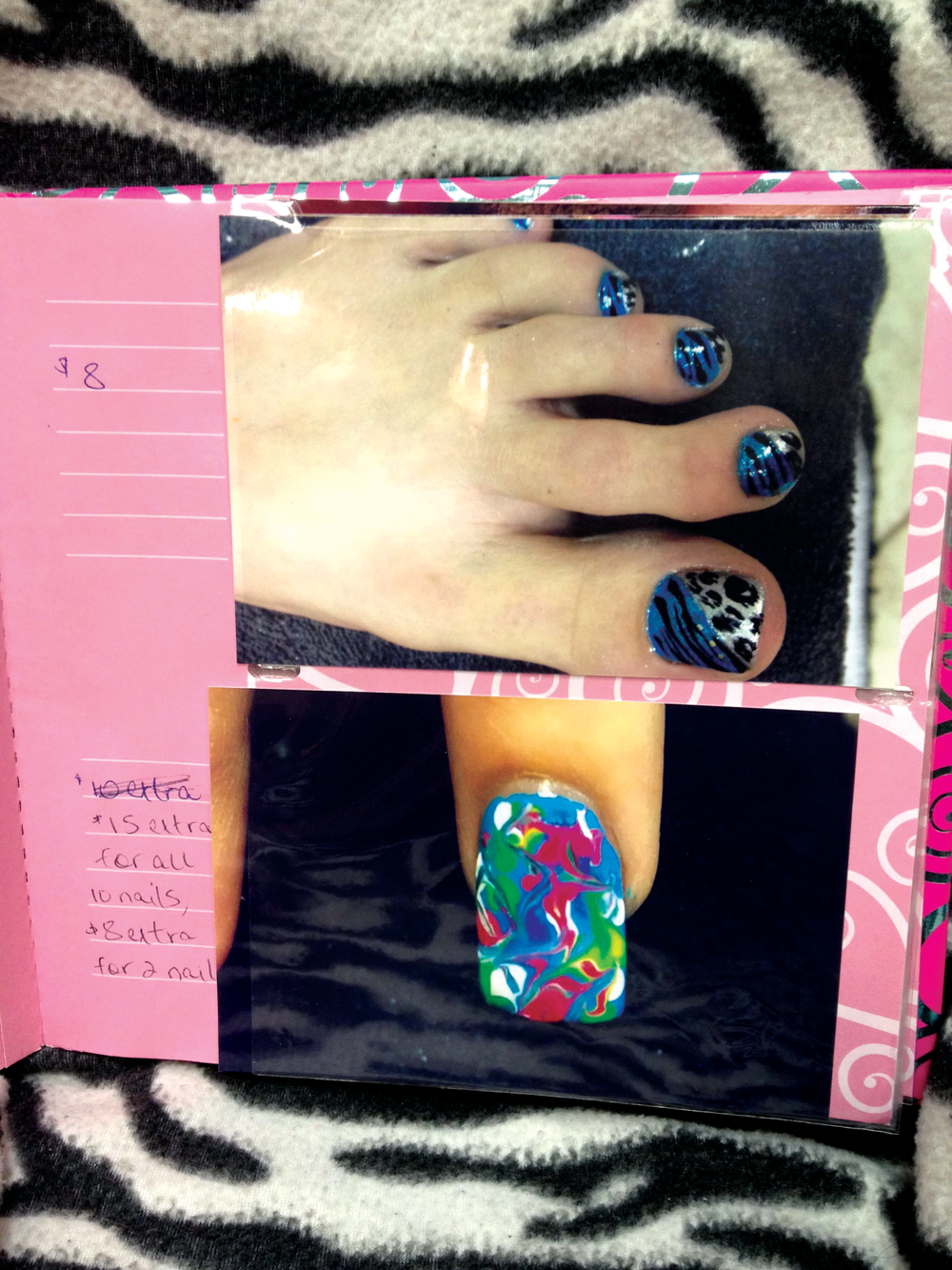 <p><strong>The Hen Shack, Abilene, Texas</strong></p> <p>&ldquo;I&rsquo;ve done nails for eight years, and I just changed to a booth rental agreement in September. That&rsquo;s when I decided I should have my own nail art display to show off my work. I keep a cute photo album full of all of my designs for people to flip through at their appointment. The basic pricing is listed in the front of the photo album, then additional pricing is listed next to each photo if needed.&rdquo; &mdash; <em>Amy Landtroop</em></p>