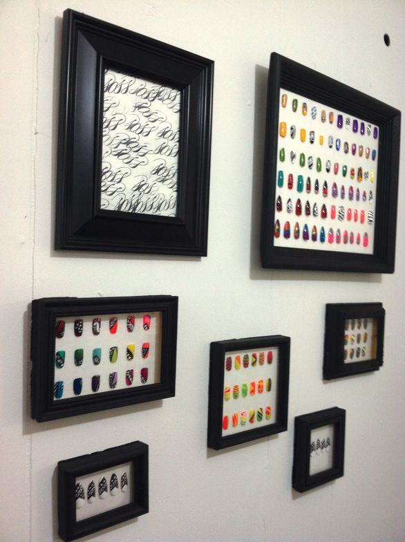 <p><strong>Soss Nails at The Rawk Shop, Salt Lake City</strong></p> <p>&ldquo;When my nail wheels start falling apart, I pluck them all off and frame them, then hang them on my walls, like shadowboxes. It makes them look like art, especially the nail wheels that follow a theme.&rdquo;<em> &mdash; Soileti Hoko</em></p>
