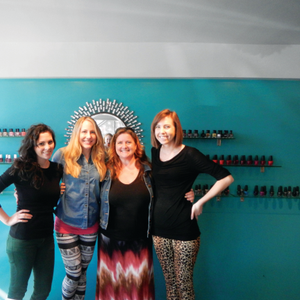 Nail artists Maddie Wheeless-Hoff (left) and Sarah Kane (right) were gracious hosts for my...