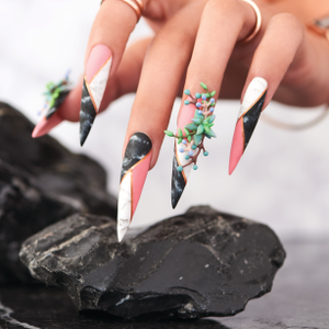 Behind the Scenes: Matte Marble Nail Art