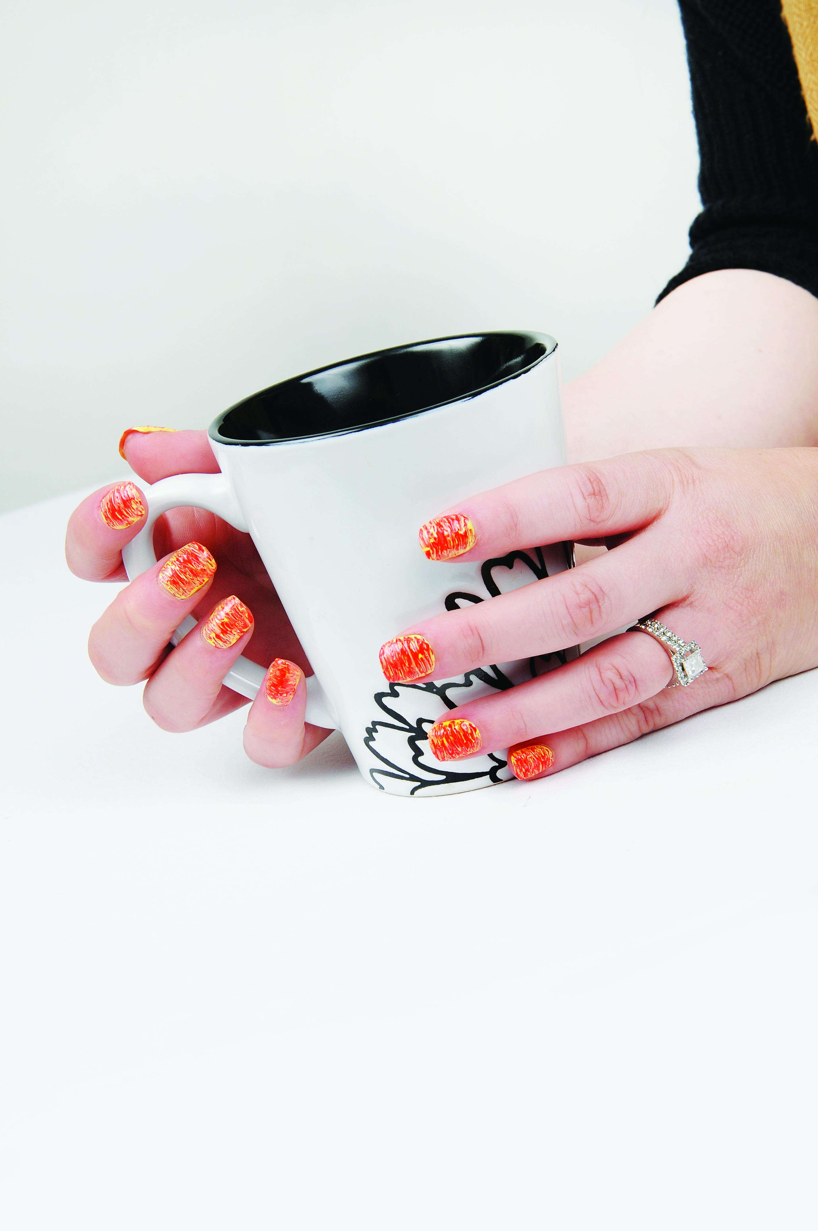 Kimmie Kyees' Q-tip Nail Art Technique
