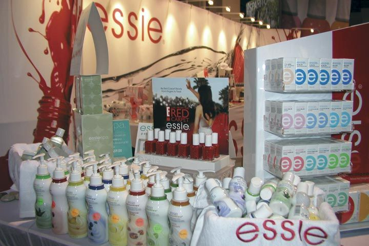 <p>Essie Cosmetics was promoting its polishes, lotions, and cuticle treatments at the show.</p>