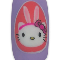 Easter Hello Kitty Nail Art Tutorial