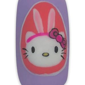 Easter Hello Kitty Nail Art Tutorial