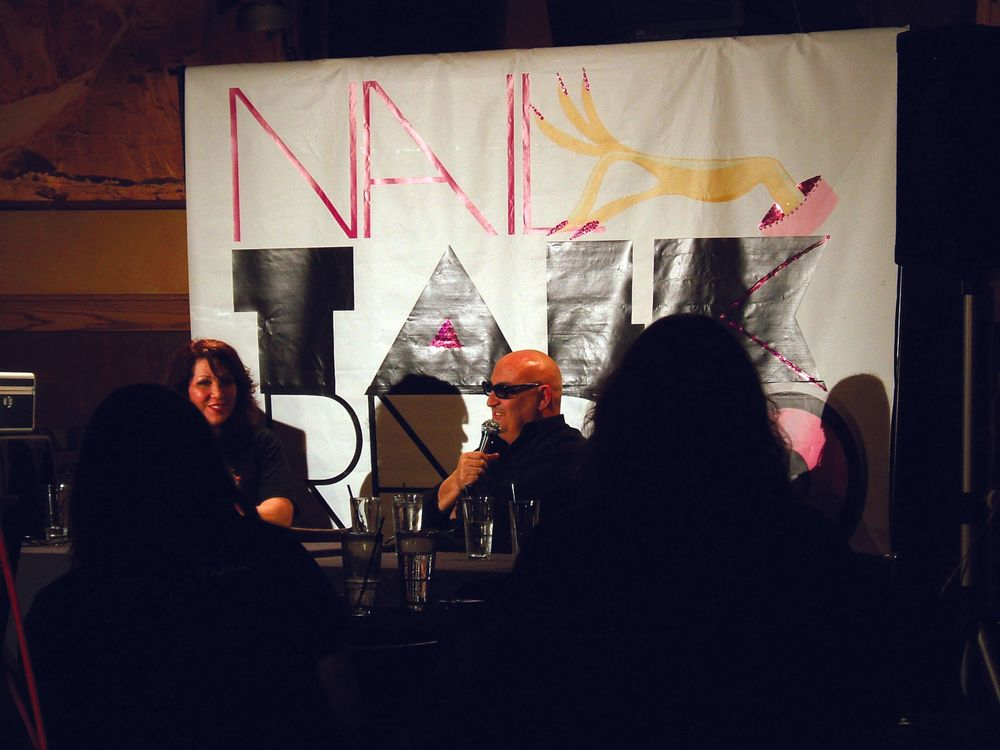 <p>CEO of Star Nail and Cuccio Natural&eacute;, Tony Cuccio, and Star Nail vice president of marketing and sales Elaine Watson were guests on Athena Elliott&rsquo;s NailTalk Radio, which was streaming live from the Rock Bottom Brewery in Long Beach, Calif., after ISSE.</p>