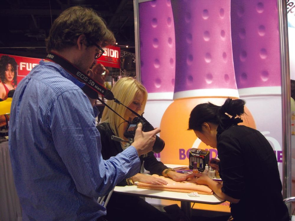 "<p>Go to <a href=""http://www.nailsmag.com/nailstv"">www.nailsmag.com/nailstv </a>to view video tutorials from the show floor.</p>"