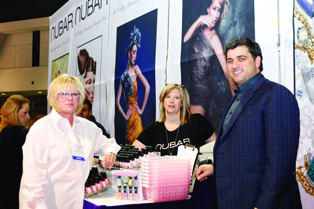 <p>Vicki Peters, Juli Miller, and Noubar Abrahamian helped launch Nubar&rsquo;s new Infinity Gelicure soak-off gel polish.</p>