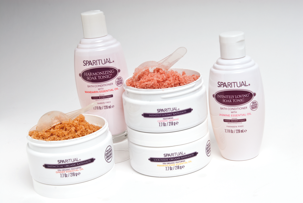 """<p style=""""text-align: left;""""><a href=""""http://www.sparitual.com/"""">SpaRitual</a> has a wide selection of organic foot soaks and bath salts. The soaks and salts feature a variety of main extracts, scents, and essential oils that include jasmine, frankincense, geranium, ginger, and Chinese jasmine.</p>"""