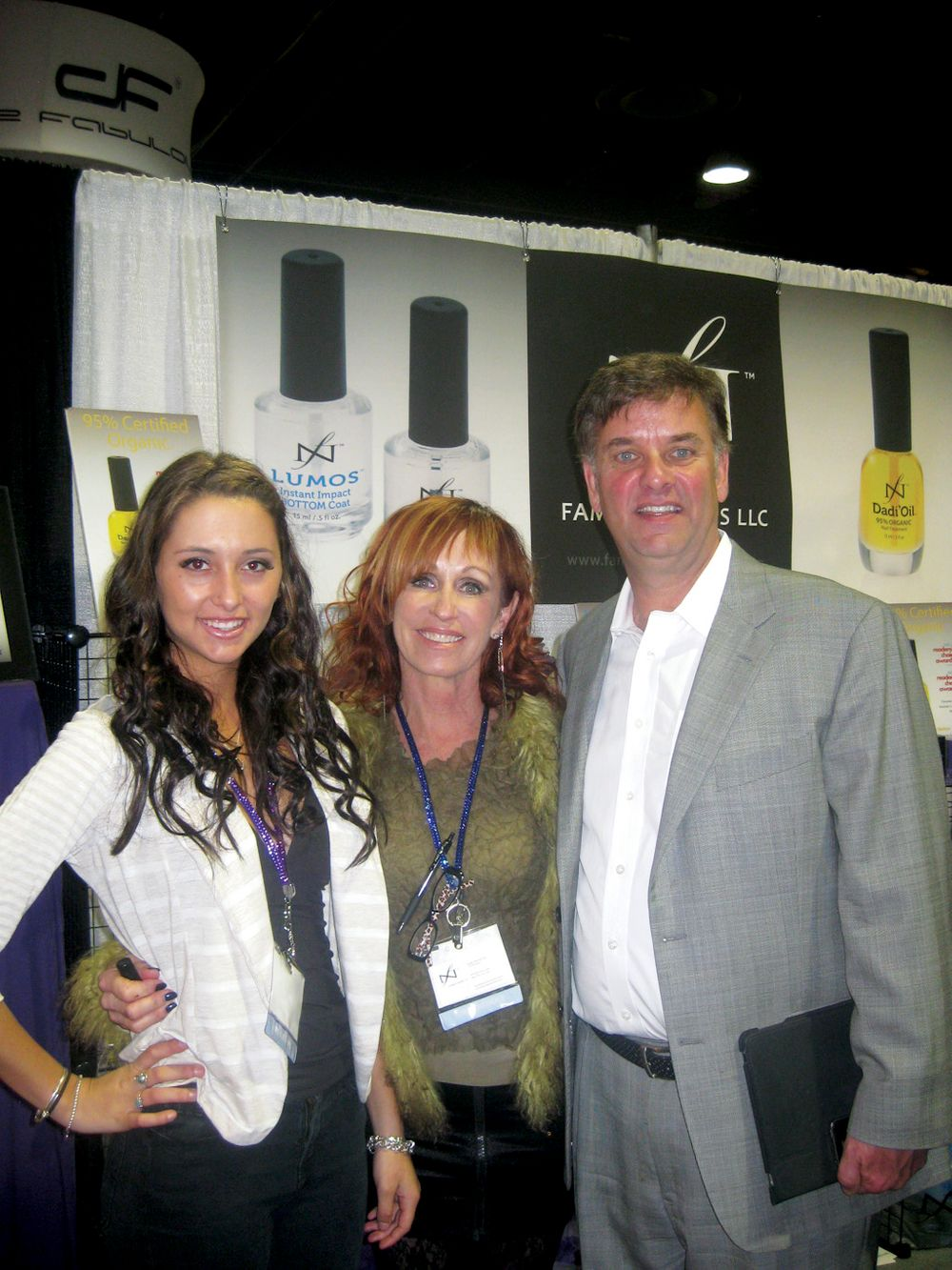 <p>Niki, Jim, and Linda Nordstrom gave attendees the &ldquo;Dadi&rsquo;Oil Challenge,&rdquo; which was a blind test of the company&rsquo;s cuticle oil versus two competitors&rsquo; oils.</p>