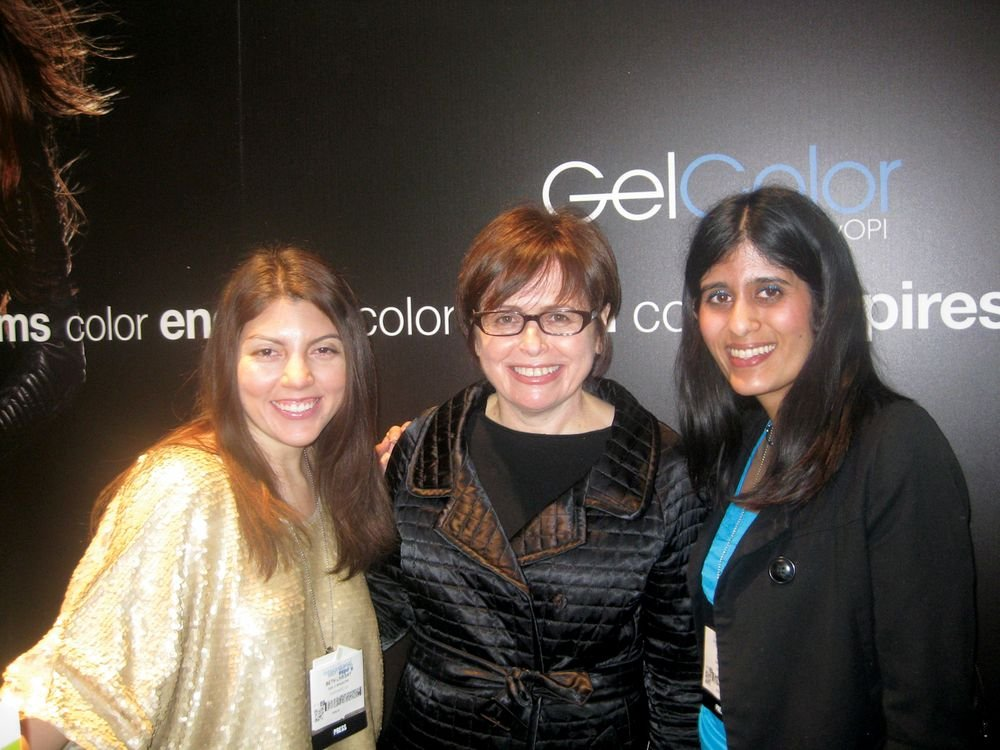<p>OPI&rsquo;s Suzi Weiss-Fischmann (center) chatted with NAILS&rsquo; Beth Livesay and Sree Roy to discuss industry trends, including her prediction that the color blue will be great for nails this season.</p>