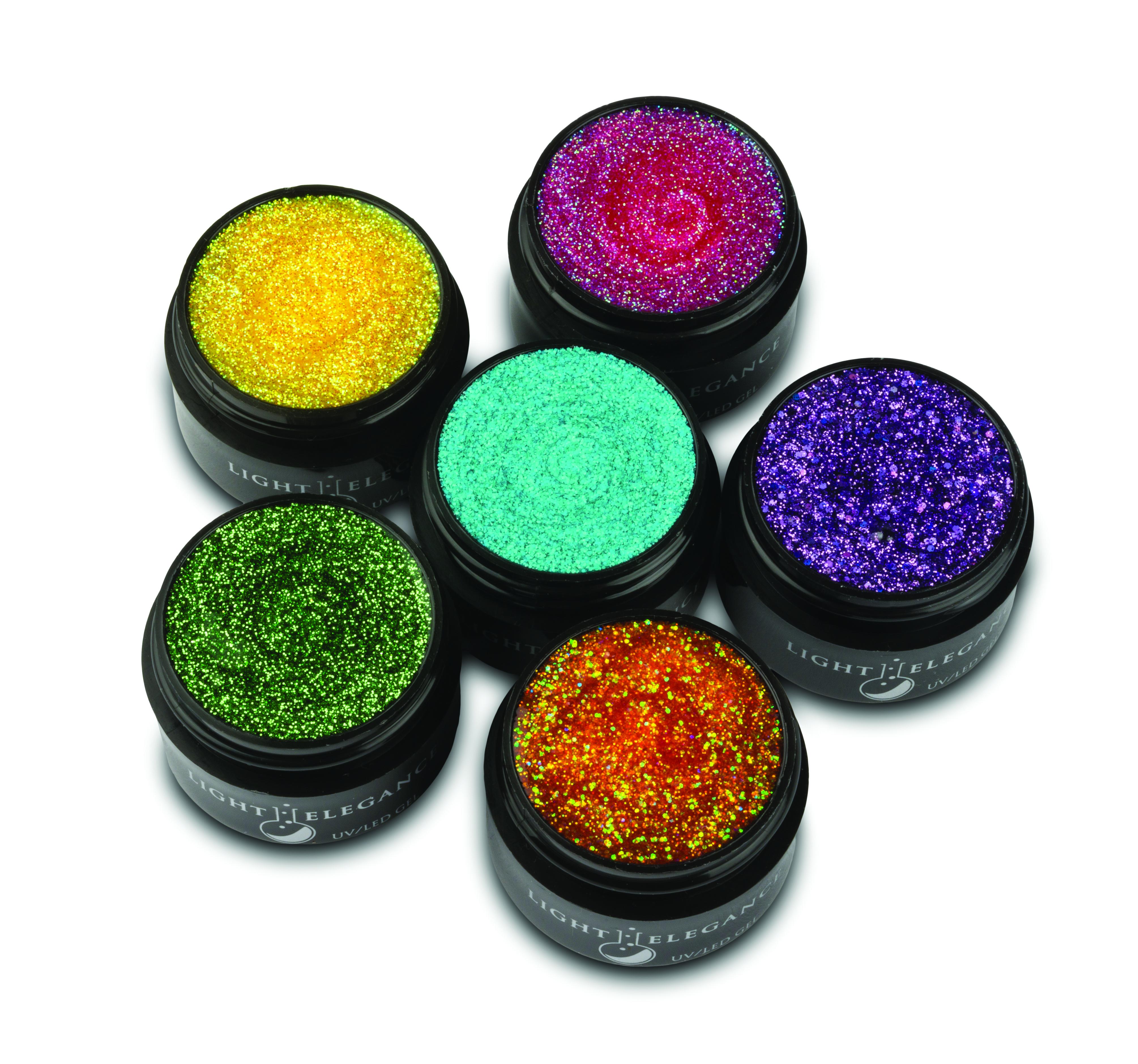 Sweet & Sour UV/LED Glitter Gels