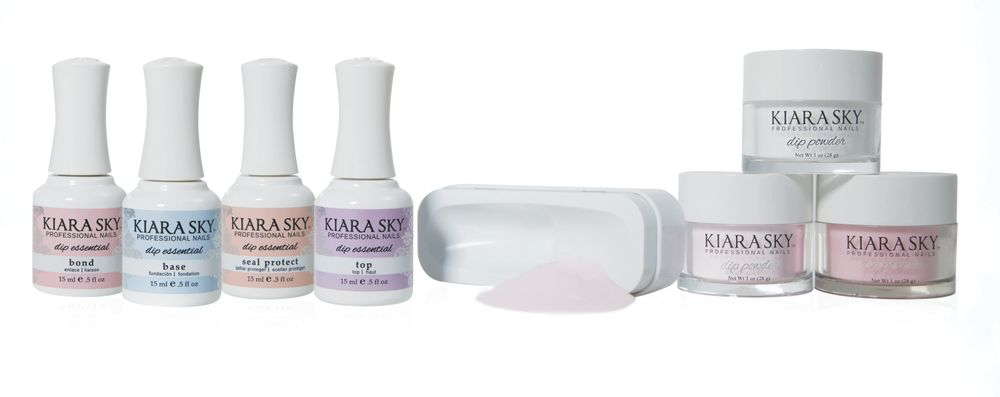 "<p>Use the Kiara Sky Dip Powder System to give clients strong, lightweight, and natural long lasting nails with easy-to-use dip powders that don't damage the nail bed. The system is available in 124 colors that match Kiara Sky gel and nail lacquer so you can offer your clients color-compatible dip powder enhancements and toenails.<br /><a href=""http://www.kiarasky.com"">www.kiarasky.com</a></p>"