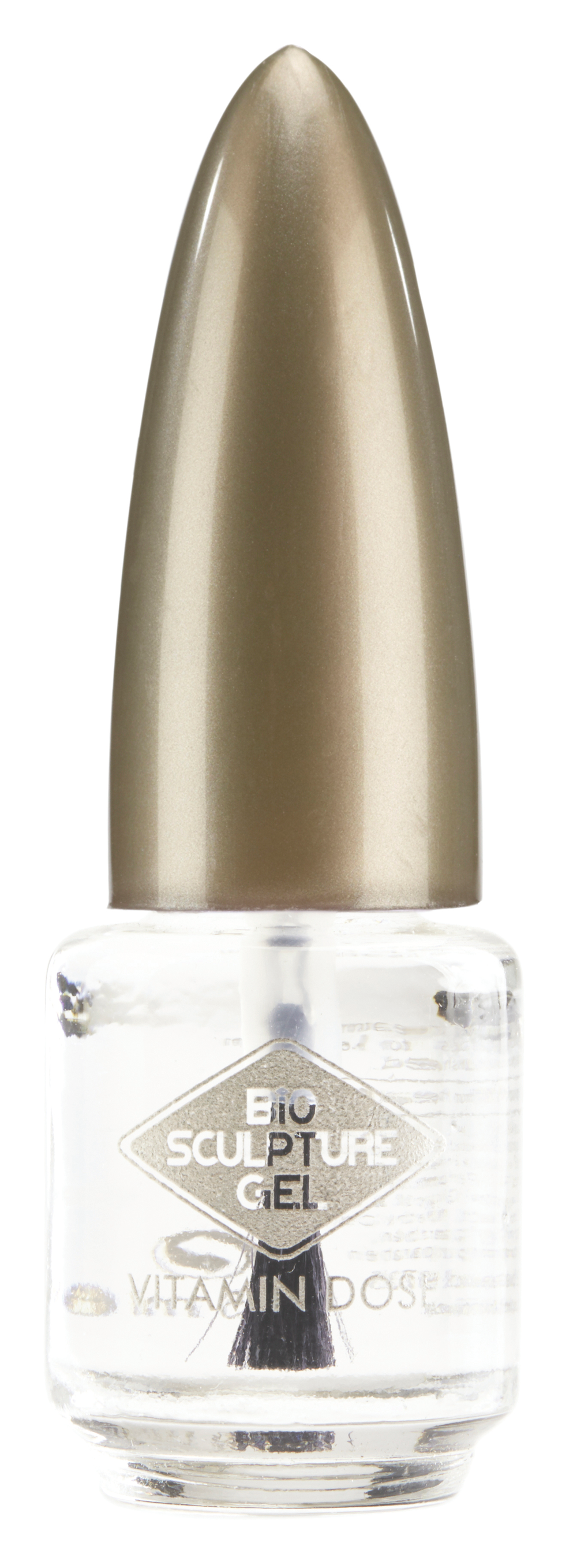 """<p>Bio Sculpture Gel Vitamin Dose features vitamins that are essential to the keratin structure and cell metabolism of natural nails. Simply use the brush-on applicator to apply the product around the nail and cuticle area, allow it to be absorbed, and continue with a spa manicure or gel treatment. The product will moisturize and strengthen natural nails.<br /><a href=""""http://www.biosculpturegel.com"""">www.biosculpturegel.com</a></p>"""