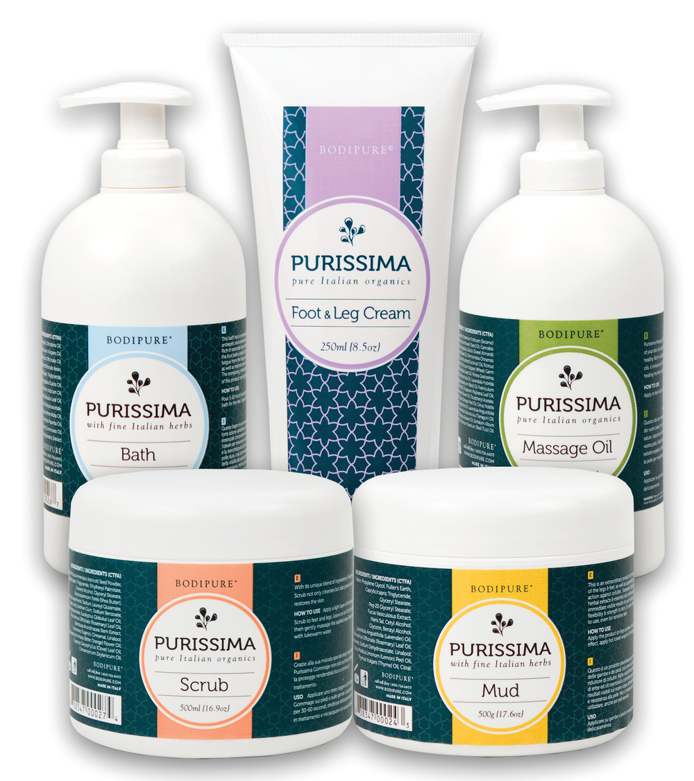 """<p>Bodipure's Purissima Collection features organic foot care products that provide relaxation and promote well-being. The products are fortified with plant extracts and essential oil aromatherapy to detoxify, promote metabolism, improve blood circulation, and relieve stress for a healthier, more holistic lifestyle. <br /><a href=""""http://www.bodipure.com"""">www.bodipure.com</a></p>"""