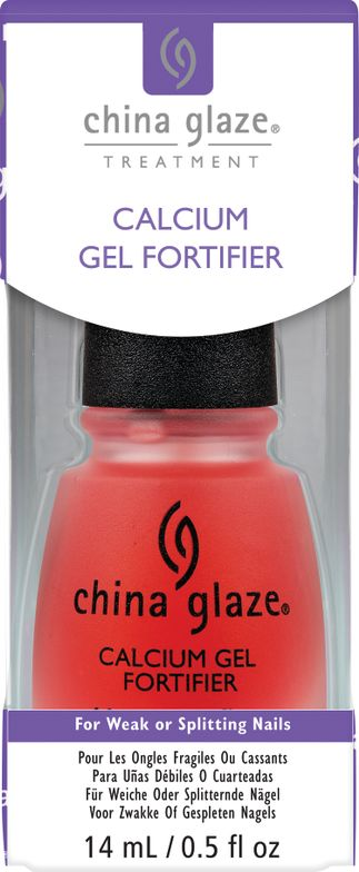 "<p>For those who experience weak or splitting nails, China Glaze Calcium Gel Fortifier provides a more substantial coating than a typical nail strengthener. Its special blend of Vitamin B3, Vitamin B5, and wheat protein supplies the nail with the nutrients required to strengthen and protect against splitting and cracking, promoting the growth of healthy, beautiful nails in just eight weeks. <br /><a href=""http://www.chinaglaze.com"">www.chinaglaze.com</a></p>"