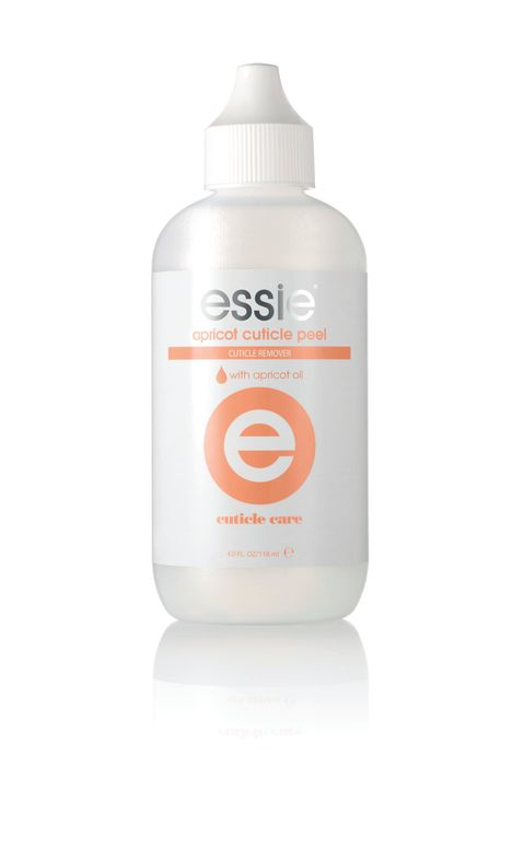 "<p>Essie Apricot Cuticle Peel is a professional-strength formula helps reveal smoother, healthier skin around the nail. Potassium hydroxide technology breaks down proteins in unsightly dead cuticle cells and gently softens the cuticles to allow them to easily be pushed back. It eliminates the need for harmful cutting or trimming.<br /><a href=""http://www.essie.com"">www.essie.com</a></p>"