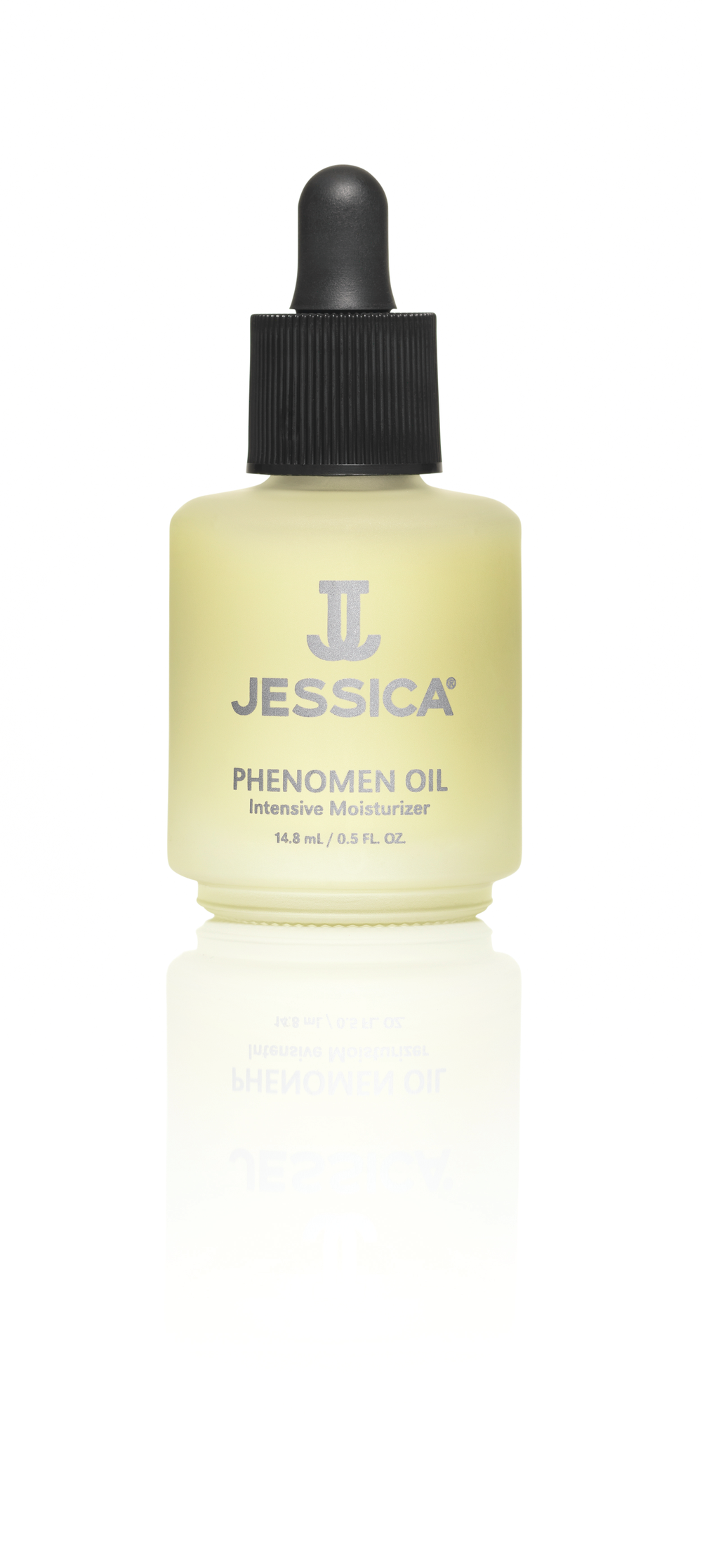 """<p>Jessica Cosmetics Phenomen<br /> Oil is an intensive moisturizer that stimulates the circulation in the nail and cuticle and rehydrates with healing jojoba, almond, and rice oils that soften the cuticle and promote nail growth. Phenomen Oil can also be used on elbows, feet, knees, and any other rough, dry areas that need extra moisture.<br /><a href=""""http://www.jessicacosmetics.com"""">www.jessicacosmetics.com</a></p>"""
