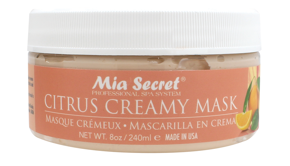 """<p>Mia Secret's Citrus Collection features a delicate, relaxing scent. The mineral salts, sugar scrub, and moisture mask include vitamin E, citrus fragrance, vitamin C, essential oils, and antioxidants to promote healthy skin. The sugar scrub, made with real cane sugar, gently exfoliates and removes dead and dry skin. <br /><a href=""""http://www.miasecretnails.com"""">www.miasecretnails.com</a></p>"""