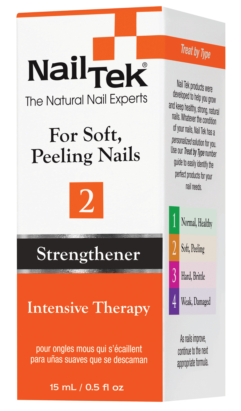 """<p>Nail TekIntensive Therapy 2 treats soft, peeling nails. This unique protein formulation seals the layers of the nail together, healing weak, thin, soft, or peeling nails. With each application, Intensive Therapy 2 reinforces and thickens nails while protecting strength and flexibility.<br /><a href=""""http://www.nailtek.com"""">www.nailtek.com</a></p>"""