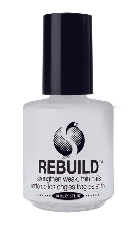 "<p>Seche Rebuild strengthens weak, thin nails. This unique protein formulation seals the layers of the natural nail together, reinforcing and thickening nails with each application. Use regularly as a base coat or alone to provide durability while promoting strength and flexibility. <br /><a href=""http://www.seche.com"">www.seche.com</a></p>"