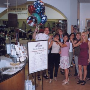 At a week-long open house, Salon Miko served fruit platters and champagne punch along with...