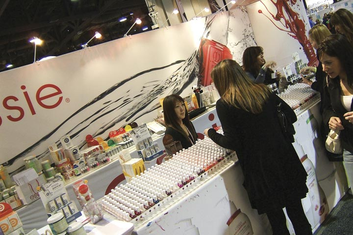 <p>The Essie booth showed off its wide array of colors, as well as introducing its new ejuvenate skin care line and Art of Spring polish collection.</p>