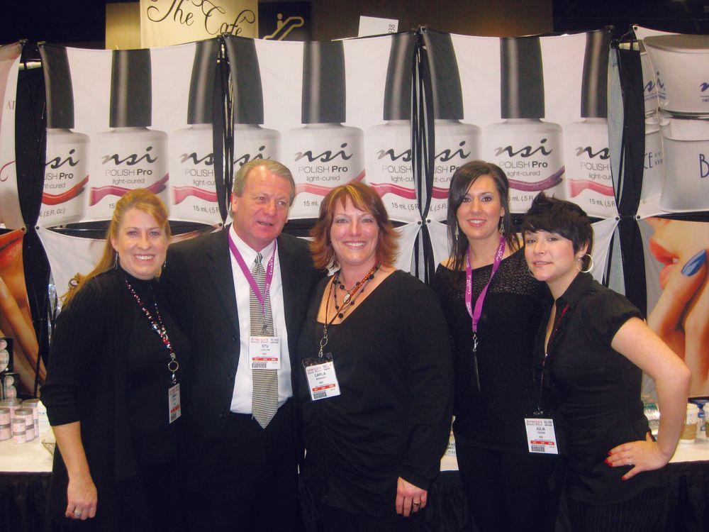 <p>Sarah Burel, Stu Ludlow, Carla Bernard, Malinda Haggerty, and Julia Tucker worked the NSI booth.</p>