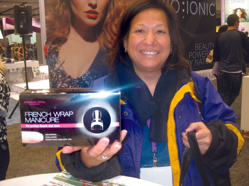 <p>Patti Hernandez, Milwaukee, loved her Dashing Diva Professional French Wrap Manicure demo so much that she bought a box.</p>