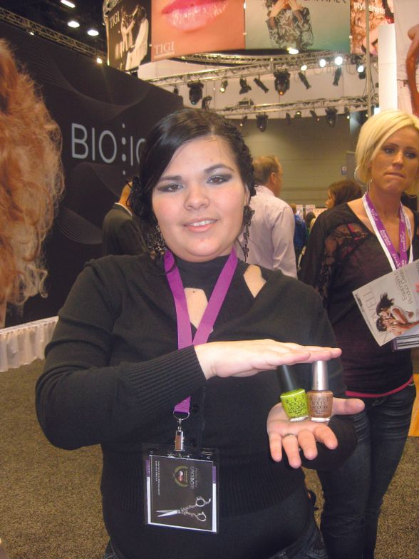 <p>Vianey Murillo, Chicago, bought an assortment of OPI nail lacquers.</p>