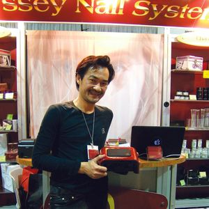 Odyssey Nail System CEO Trang Nguyen debuted his new dual LED and CFL Combo UV Lamp at the 2012...