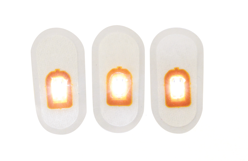 <p>The LED light nail appliqu&eacute;s from Mr. Nail Art can light up any design, literally! Once encapsulated, the NFC signal-activated light shines or blinks, adding dimension to manicures.</p>
