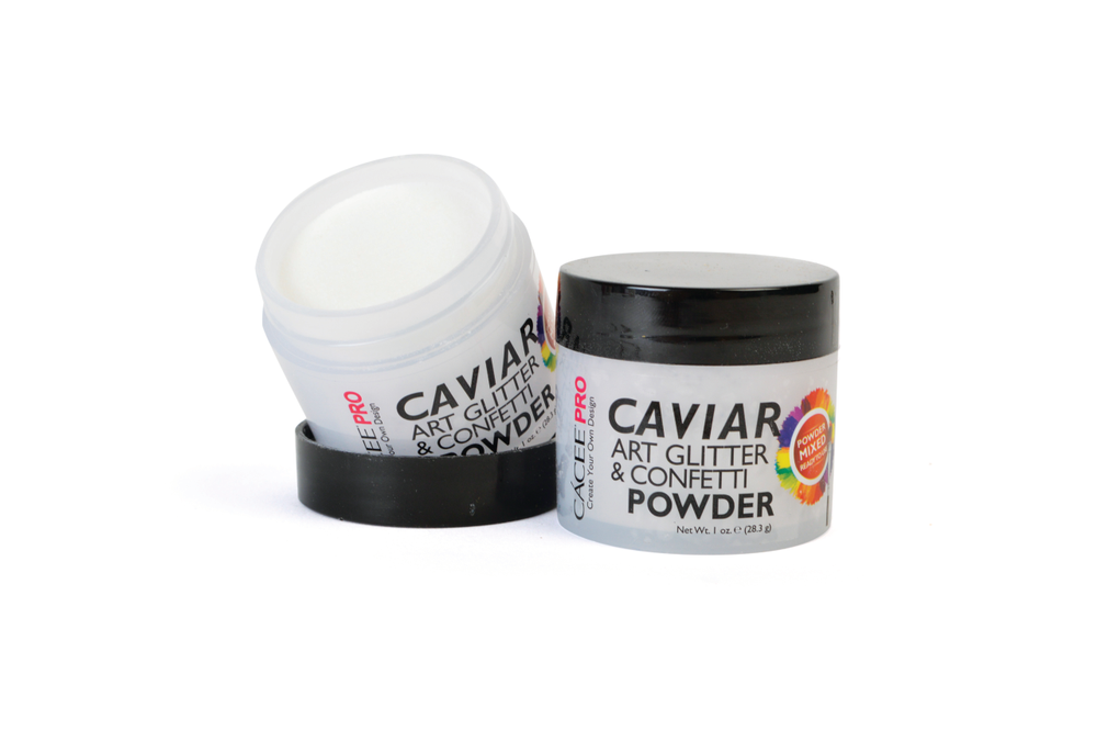 <p>C&aacute;cee&rsquo;s ready-to-use acrylic powder is premixed with Caviar and Art Glitter &amp; Confetti, making it convenient for all nail artists to create an aesthetic acrylic manicure. The line is available in 36 colors.</p>