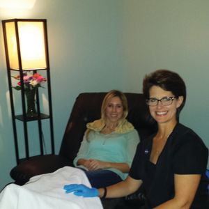 Pedicure Plus owner Denise Baich sees healthy clients and ambulatory patients in her salon...