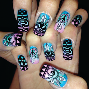 Celine Cummings' hand-painted design was selected by INM from many contest entries.