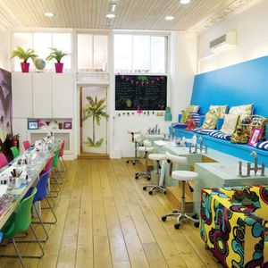The goal with Tropical Popical was to make a nail bar with a style that's not typical in...