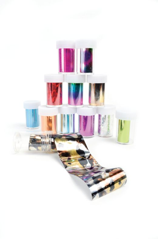 """<p>Mia Secret Foil Paper is available in three types of 12-piece assorted sets. <a href=""""http://www.miasecretnails.com"""">www.miasecretnails.com</a></p>"""