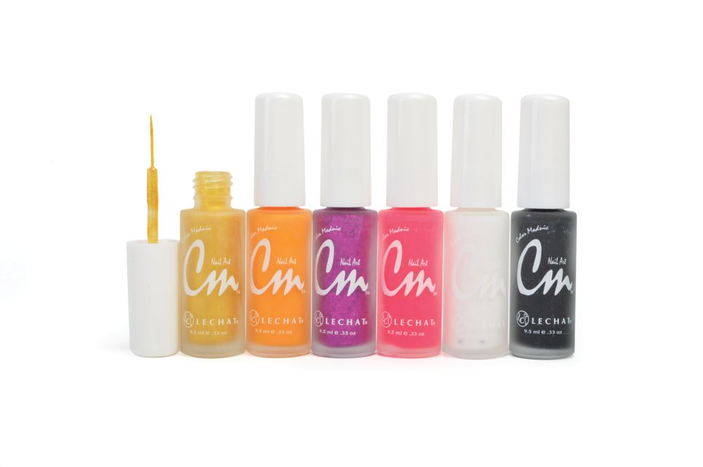 """<p>LeChat CM Nail Art makes intricate designs easy. It's a high-pigment, lacquer-based nail paint with a flexible, precision tip brush for striping, free-hand drawing, or dotting. Its brush is long and thin for easy application. It comes in an assortment of 60 shades. <a href=""""http://www.lechatnails.com"""">www.lechatnails.com</a></p>"""