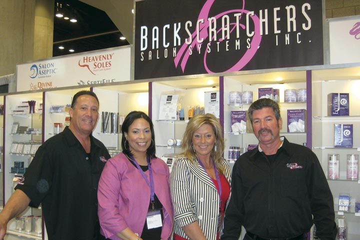 <p>Backscratchers&rsquo; Michael Megna, Marissa Dew, Leaha Franks, and Don Ambler were hard at work manning the company&rsquo;s booth.</p>