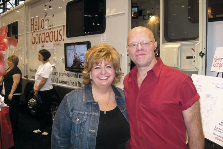 <p>Kim and Mike Becker founded the non-profit mobile salon Hello Gorgeous! (www.gorgeousgals.com) to provide free beauty services to cancer patients and survivors. Show attendees were able to tour the mobile facility.</p>