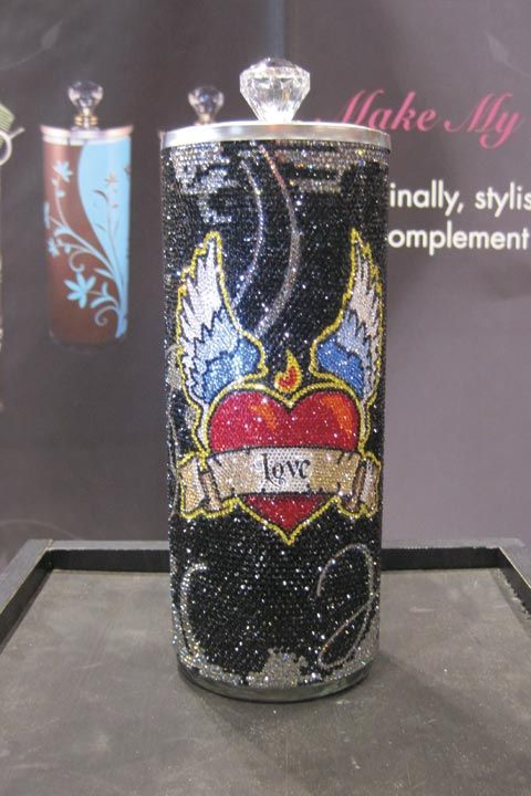 <p>My Element Style has plenty of trendy, designer sanitation jars, but none quite as fancy as this one that is bedazzled with more than 10,000 Swarovski crystals.</p>
