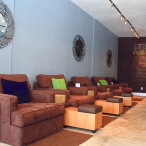 Crave's chairs are larger than the average salon chair and provide enough room to seat a parent...