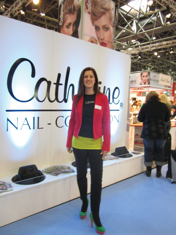 <p>Catherine Frimmel&rsquo;s mother started Catherine Nail Collection 34 years ago. The company&rsquo;s &ldquo;only gels&rdquo; philosophy shows strong with more than 250 colors. Frimmel, who now runs the company with her brother, told me neons are really popular in Germany right now.</p>