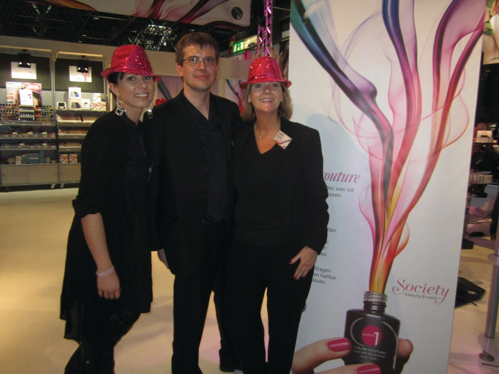 <p>Tessa Jansen and Walter and Doris Weskamp own Society Beauty &amp; Nails, the exclusive German distributor of Entity</p>