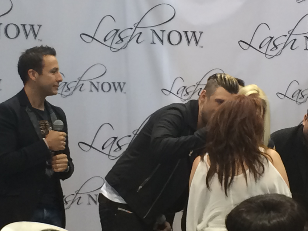 <p>Backstreet Boys Howie Dorough and Nick Carter showed up at the Lash Now booth to take pictures with fans and participate in lash demoes.</p>