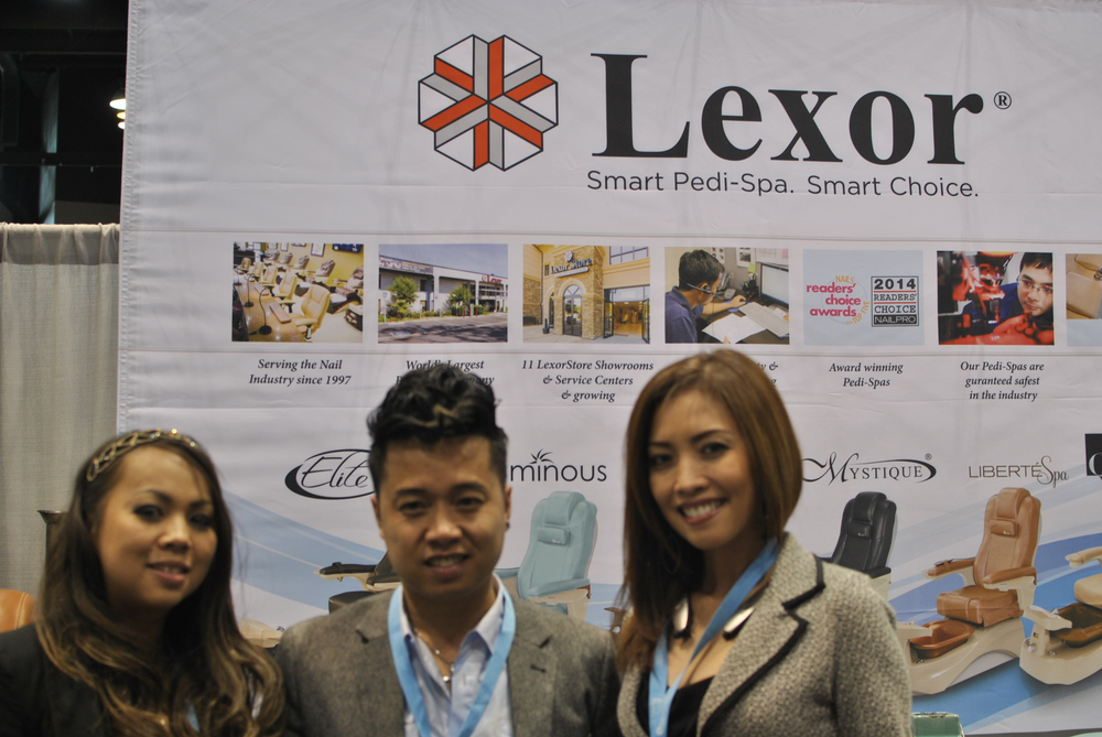 <p>Lexor&rsquo;s Carine Phan, Tyler Nguyen, and Hannah Nguyen discussed new smart features available on the brand&rsquo;s pedicure chairs.</p>