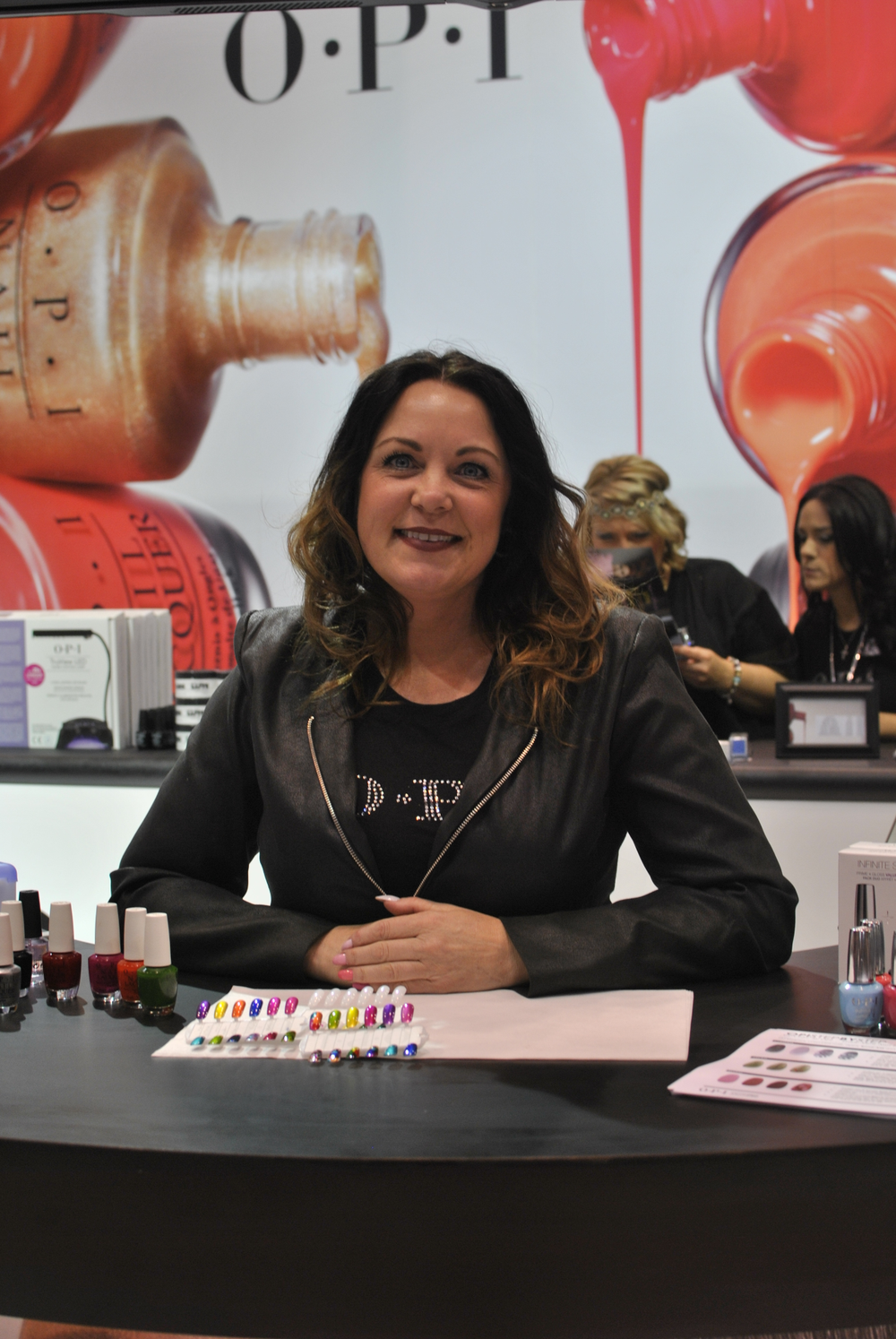 <p>Wendy Brownlee showed how to make easy nail art designs with OPI&rsquo;s new Color Paints.</p>