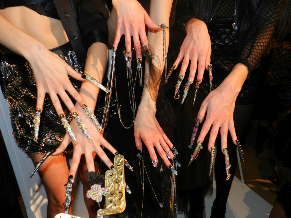 <p>Nail looks by Lavette Cephus, Heather Davis, and Ashley Craig were urban and avant garde.</p>