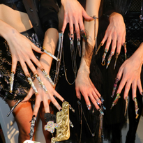 Nail looks by Lavette Cephus, Heather Davis, and Ashley Craig were urban and avant garde.
